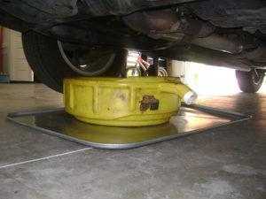 using-an-oil-drip-pan