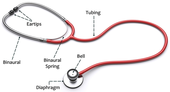 parts of a stethoscope